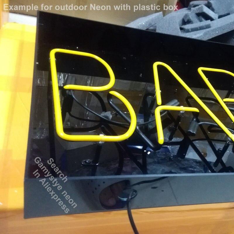 Enseigne au néon pour la fenêtre au néon personnalisée signe BBQ pour aller au Pub de la flamme Restaurant néon fenêtres lumières à vendre LOGO de marque personnalisée à la main - 4