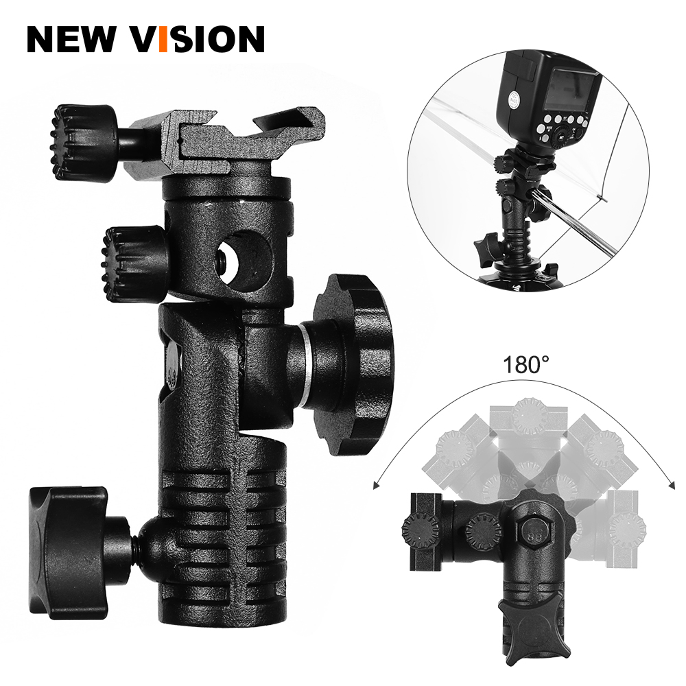 Flash Shoe Umbrella Holder Light Stand Bracket Adapter S-050 NEW