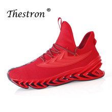 New Cool Athletic Mens Sneakers Breathable Mesh Running Shoes for Men Luxury Brand Designer Red Style