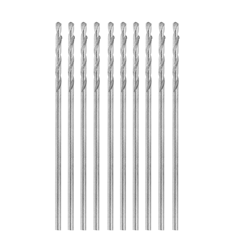 10Pcs/Set Multifunction Tiny Micro HSS 1.0mm Straight Shank Twist Drilling Bit -Y103 free shipping of 1pc hss 6542 made cnc full grinded hss taper shank twist drill bit 11 175mm for steel