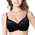 Vogue Secret Brand Thin Padded Push Up Bra Lace Bralette Bras For Women Plus Size Sexy Lingeire Underwear Big Cup B C D 3/4 Cup