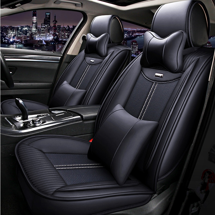 Haute qualité! Ensemble complet housses de siège de voiture pour Honda Civic 2018-2016 confortable respirable couvre pour Civic 2017, livraison gratuite