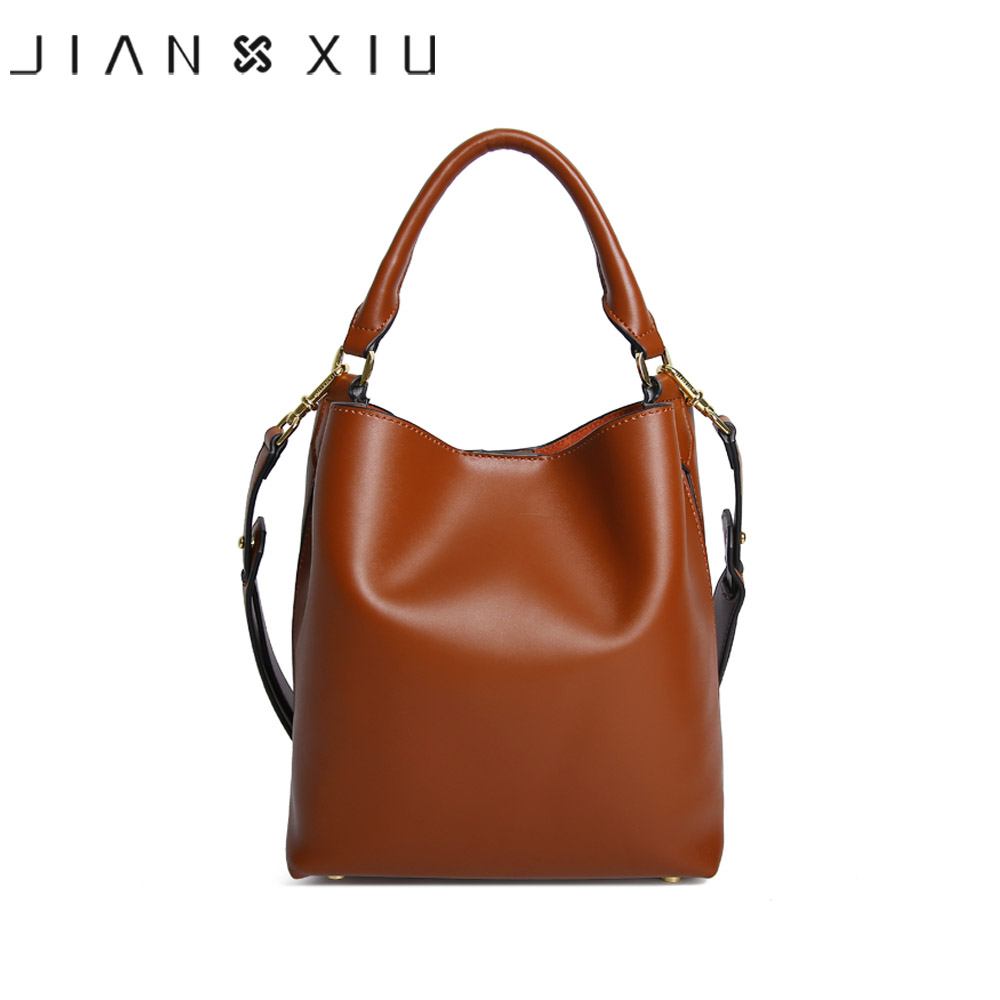 JIANXIU Brand Women Messenger Bag High Quality Genuine Leather Handbag Fashion Composite Bag Large Bucket Shoulder Handbags 2017 luxury genuine leather bag fashion brand designer women handbag cowhide leather shoulder composite bag casual totes
