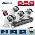 6mp annke hd 4ch rede nvr poe 1080 p 2.0mp wdr vca de vídeo sistema de câmera de segurança 1 tb