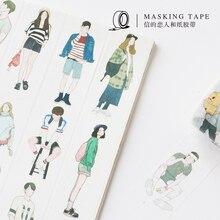 Васи лента в скандинавском стиле для мальчиков и девочек украшение дневника DIY лента для скрапбукинга маскирующая серия друзей