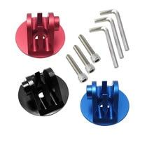 Atirar liga de alumínio bicicleta fone de ouvido tampa superior adaptador montagem para gopro hero 9 8 7 6 5 sjcam m10 xiaomi yi 4k eken go pro acessório