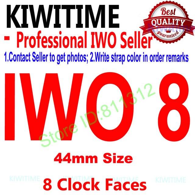 "IWO 8 44mm Bluetooth חכם שעון סדרת 4 1:1 SmartWatch מקרה עבור iOS אנדרואיד קצב לב אק""ג פדומטר שדרוג של IWO 5 6"