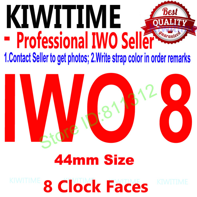 IWO 8 44mm Bluetooth Smart Watch Series 4 1:1 SmartWatch Case for iOS Android Heart Rate ECG Pedometer Upgrade of IWO 5 6