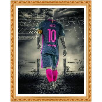 5d diy diamond embroidery Great footballer diamond painting Cross Stitch full drill Rhinestone home decoration