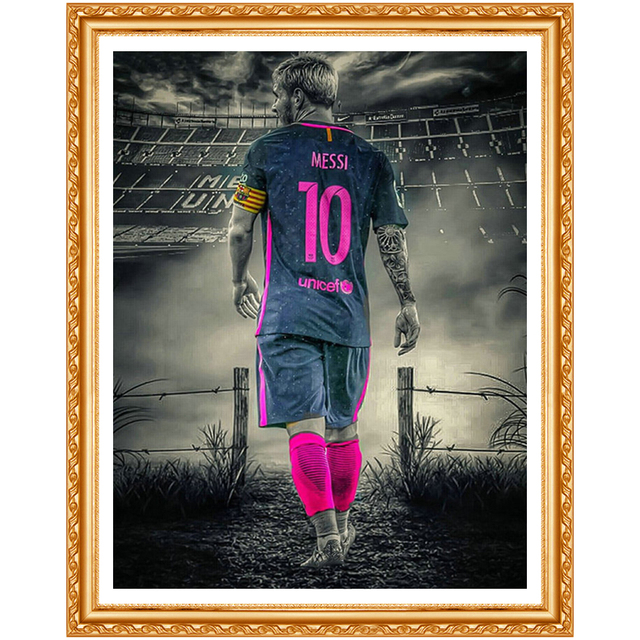 5d diy diamond embroidery Great footballer diamond painting Cross Stitch full drill Rhinestone home decoration gift