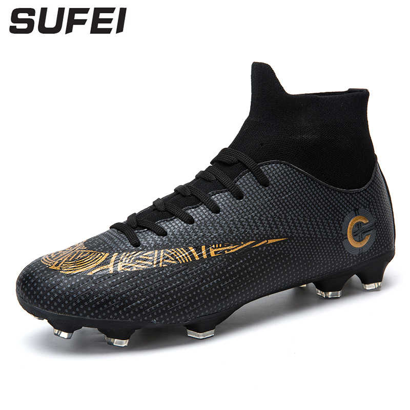 3a79eb49e98 sufei Newest Men Soccer Shoes FG Superfly VI Football Boots High Ankle  Athletic Outdoor Training Soccer