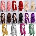 MCOSER 70 СМ 10 Цвета Женщин Lady Длинные Вьющиеся Волосы Парика волнистые Синтетический Аниме Косплей Партия Полный Парики 6 Парик Caps