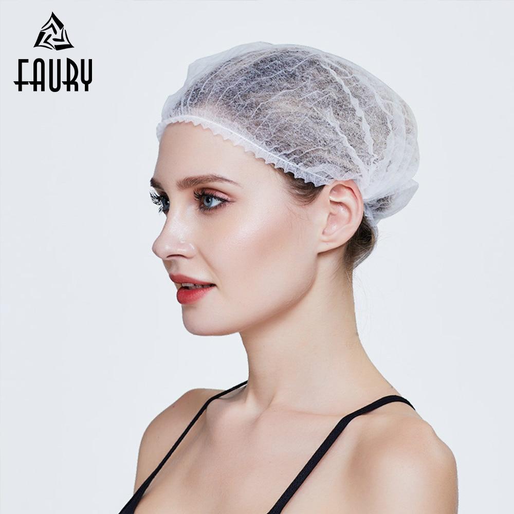 100pcs/lot Disposable Hat Breathable Chef Hat Mesh Cap Dust Cap Kitchen Cooking Cleaning Beauty Salon Spa Men Women Work Hat