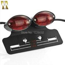 Мотоцикл двойной Хвост Cat Eye Light Пользовательские Держатель Номерного знака задний фонарь Черный держатель фонаря сигнала торможения задний фонарь сигнала поворота света