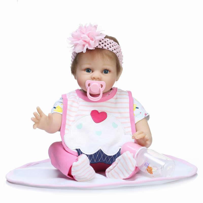 So Cute Princess Newborn Babies Dolls 22 Inch Lifelike Silicone Reborn Doll Baby Real Cloth Body Toy Kids Birthday Xmas Gift