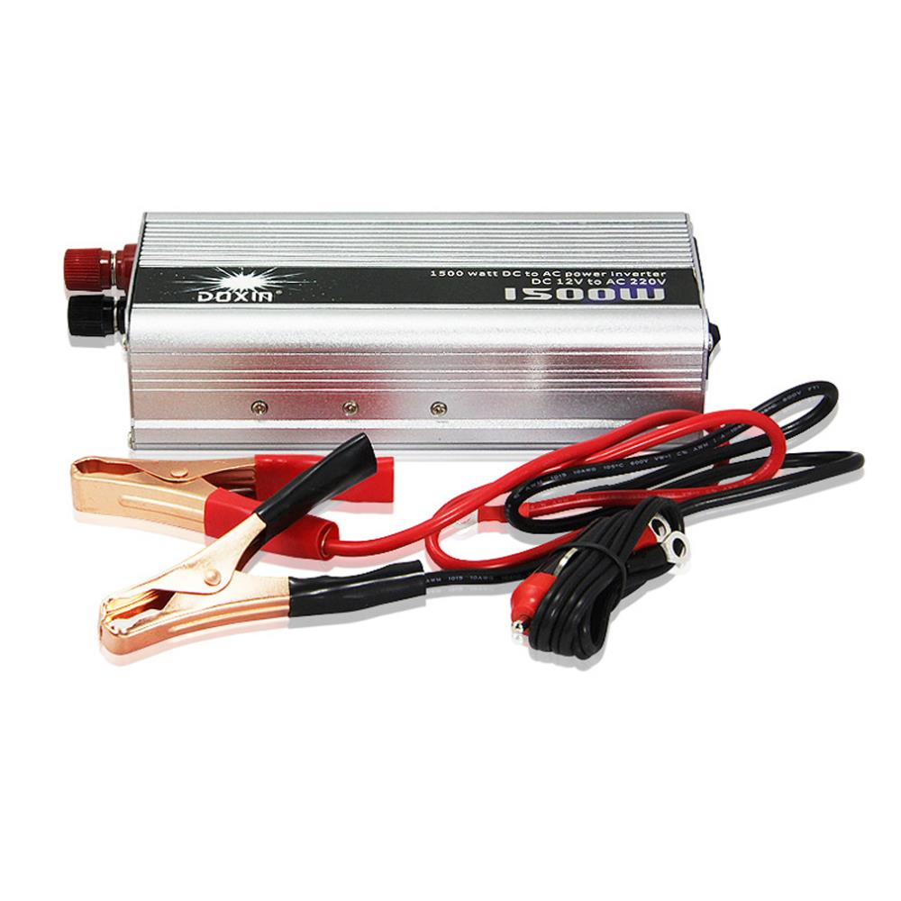 <font><b>1500W</b></font> Car DC 12V to AC 220V Power <font><b>Inverter</b></font> Charger Converter for Electronic Top Sale image