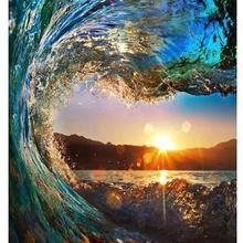 8909 Рио-де-Жанейро волна Закат-краски по номерам наборы для взрослых DIY