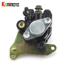 On sale KEMiMOTO For HONDA Sportrax 400 TRX400EX TRX 400EX 1999-2004 ATV Rear Brake Caliper Assembly With Pads TRX 400EX parts