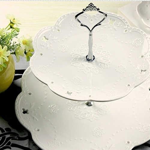 1 juego 2 o 3 niveles exhibición de fiesta de boda soporte de platos para pasteles dulces bandeja Cupcake
