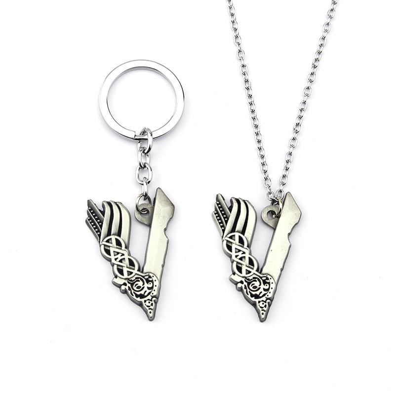 Ожерелье с подвеской в виде иконы викинга из сериала «V» для мужчин и женщин