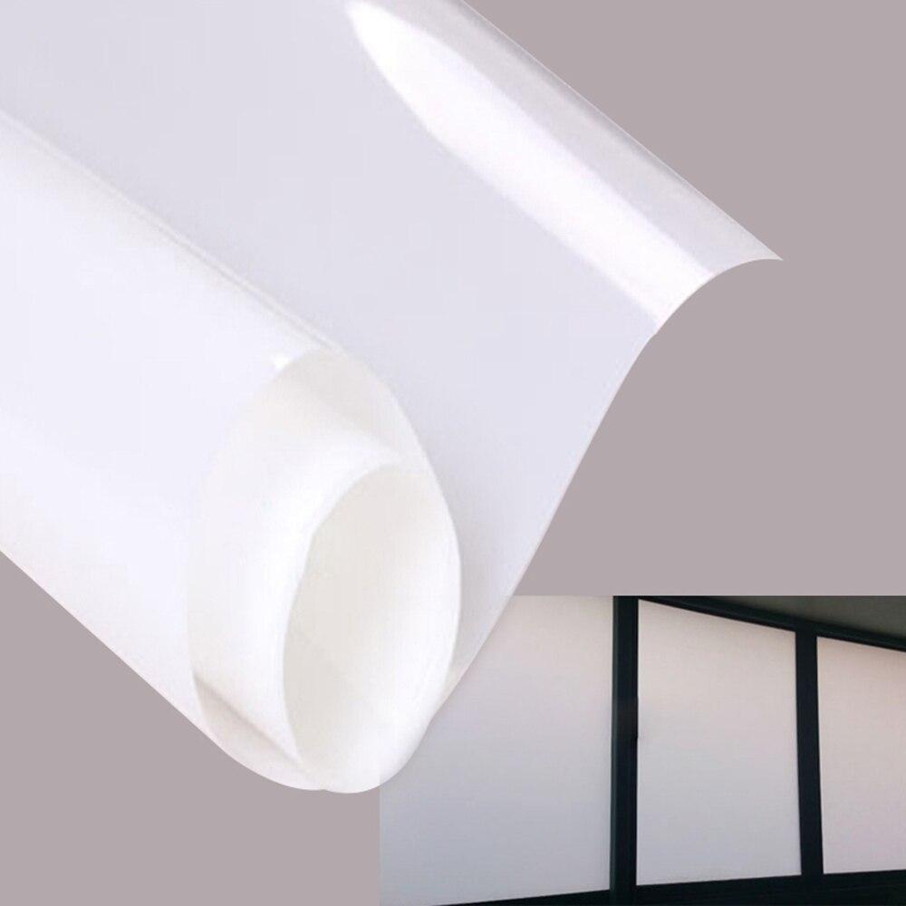 Blanc Verre Autocollant Fenêtre Film, Vie Privée pour Bureau Salle De Bains Chambre Boutique, auto-Adhésif DIY Décoratif Film 0.9 m x 2 m