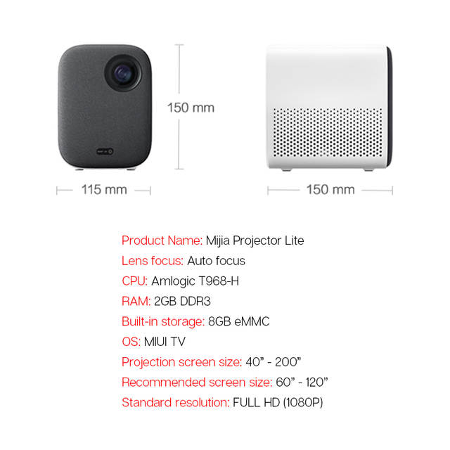 Xiaomi Mijia Projector Youth Version Projection TV Lite