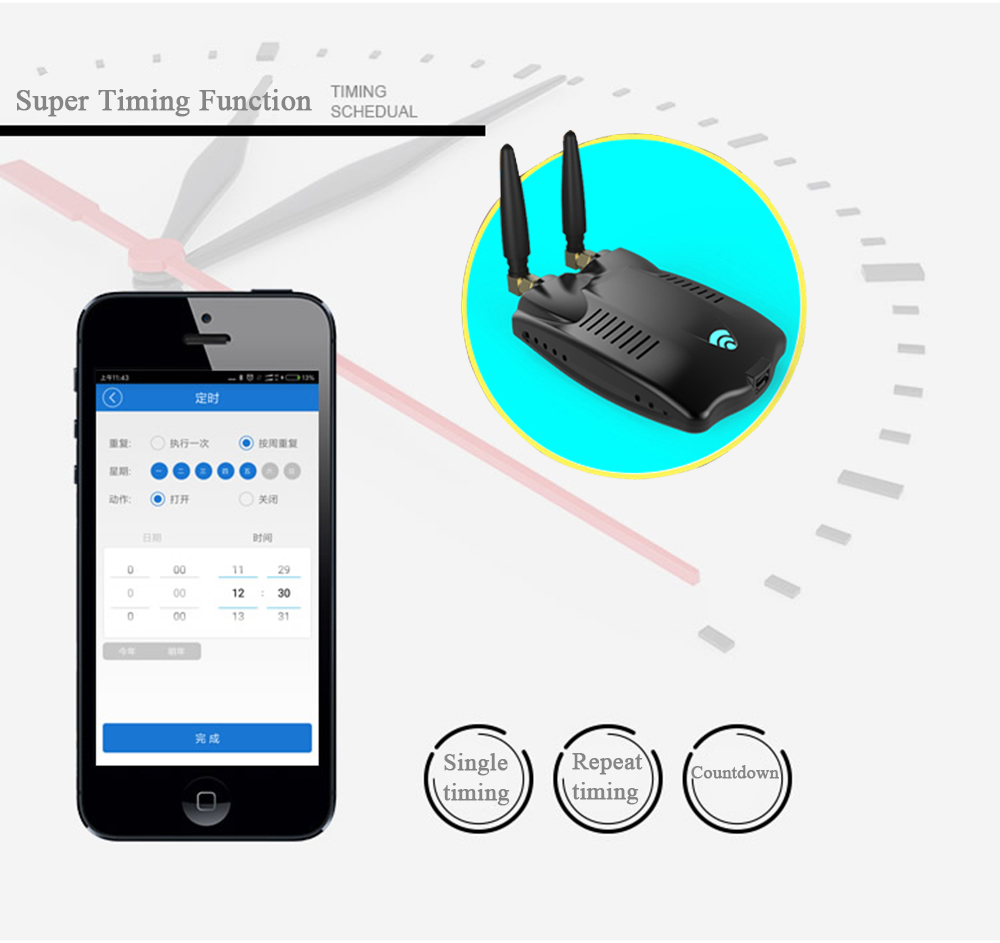 RF Bridge Wifi 433 Wireless Smart Home Universal Curtain Blinds Garage Door Remote Controller, RF Bridge Roller Shutter Switch 3