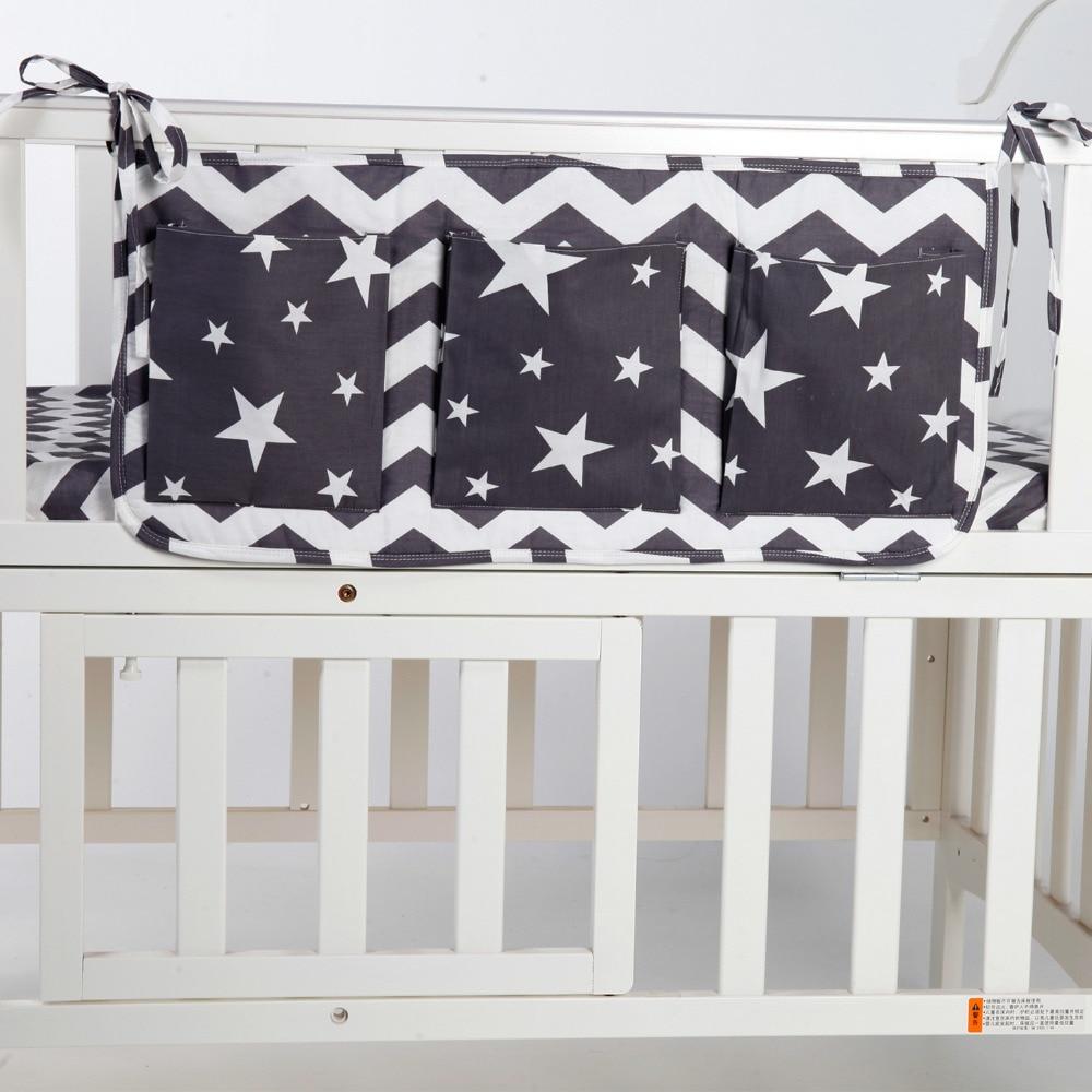 Crib bumper for sale philippines - Baby Bed Hanging Storage Bag Cotton Newborn Crib Organizer Toy Diaper Pocket For Crib Bedding Set