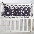 Cama de bebê pendurado saco de armazenamento de algodão recém-nascidos brinquedo organizador fralda de bolso para berço crib bedding set acessórios