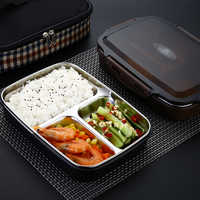Plastic Voedsel Container 304 Rvs Bento Box Lekvrij Thermos Geïsoleerde Studenten Kinderen Lunchbox Keuken Servies