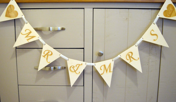 Personalised Wedding Bunting Flags Decoration Keepsake Wooden In Banners Streamers Confetti From Home Garden On Aliexpress