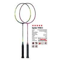 Orijinal Kawasaki Badminton raketleri örümcek 9900 II grafit elyaf 3U saldırı tip raket profesyonel oyuncu için raket hediye