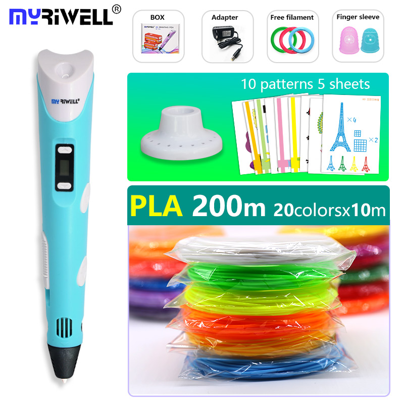 Myriwell 3d-Pen Filament Gift Birthday-Gifts with Free-Pla And Pla/abs Child New-Year title=