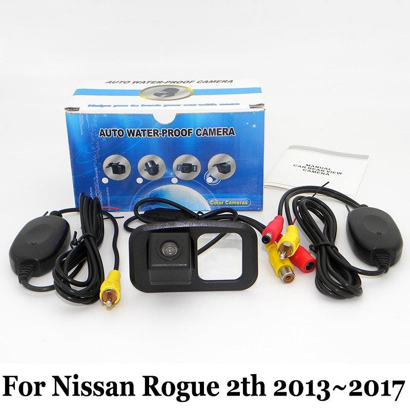 Вид сзади автомобиля Камера для Toyota Nissan Rogue 2th 2013 ~ 2017 RCA AUX  Провода или Беспроводной HD ночное Видение заднего Парковка Камера cf7e505038c