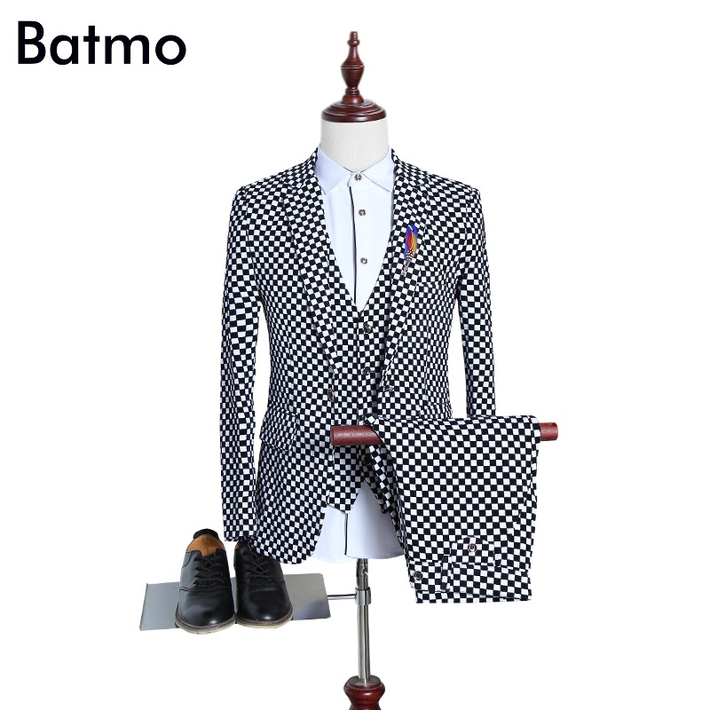 2017 new autumn&winter high quality Flocking plaid skinny men's suits,casual&wedding dress suits men,size M,L,XL,XXL,3XL,4XL,5XL женское платье andys 5xl m l xl xxl 3xl 4xl 5xl vestidos f27