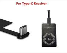 RsFow Universal Qi Sem Fio do Carregador Receiver para o iphone Adaptador Receptor Receiver Pad Bobina Telefone Android Micro USB e Tipo C