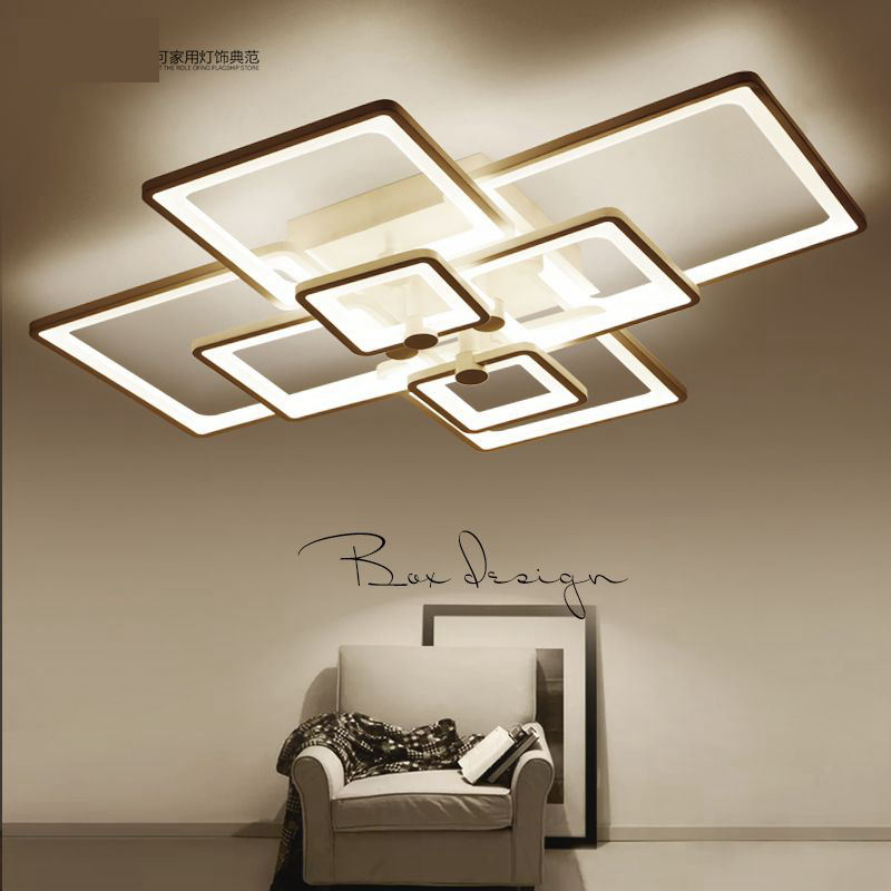 CUICAN  New Arrival Black/White LED Ceiling Chandelier For Living Study Room Bedroom Aluminum Modern Led Ceiling Chandelier noosion modern led ceiling lamp for bedroom room black and white color with crystal plafon techo iluminacion lustre de plafond
