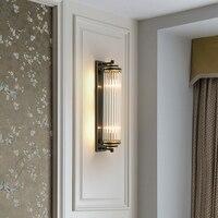 110 220V Vintage Outdoor Brass Wall Lamp Modern Bedroom led Lamp Bedside Lamp E14 Wall Lighting Lamp Wall Brackets Lights