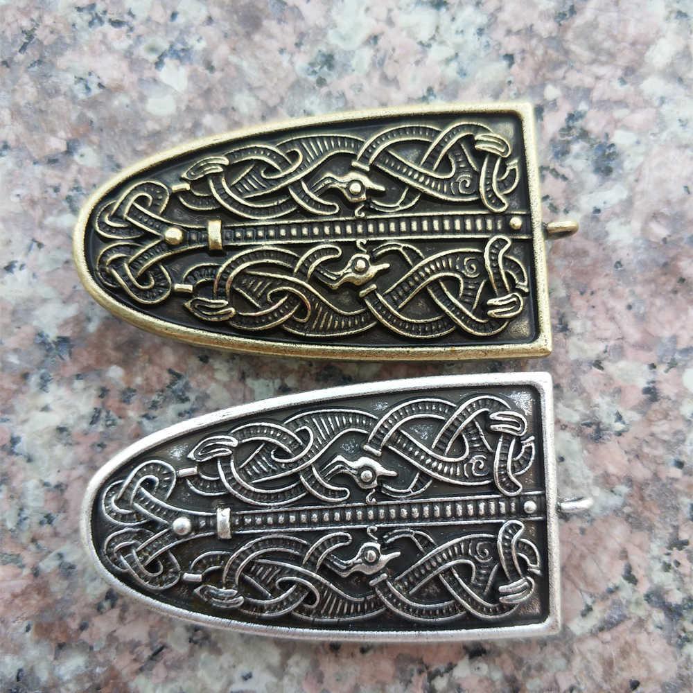 Langhong 1 Buah Naga Bros untuk Wanita Swedia Skandinavia Viking Bros Perhiasan Jimat Wanita Bros