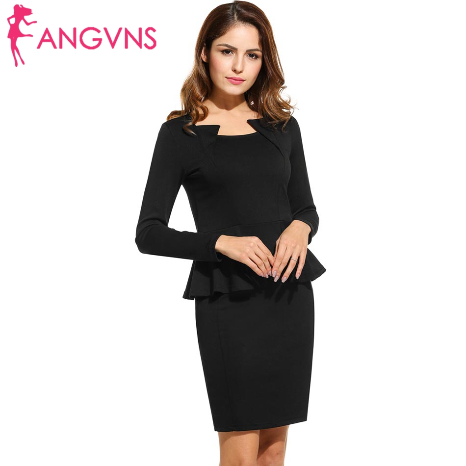 Black dress mini - Angvns Sexy Pencil Dress Women Elegant Party Mini Short Tight Dresses Business 2017 Ol Casual Black