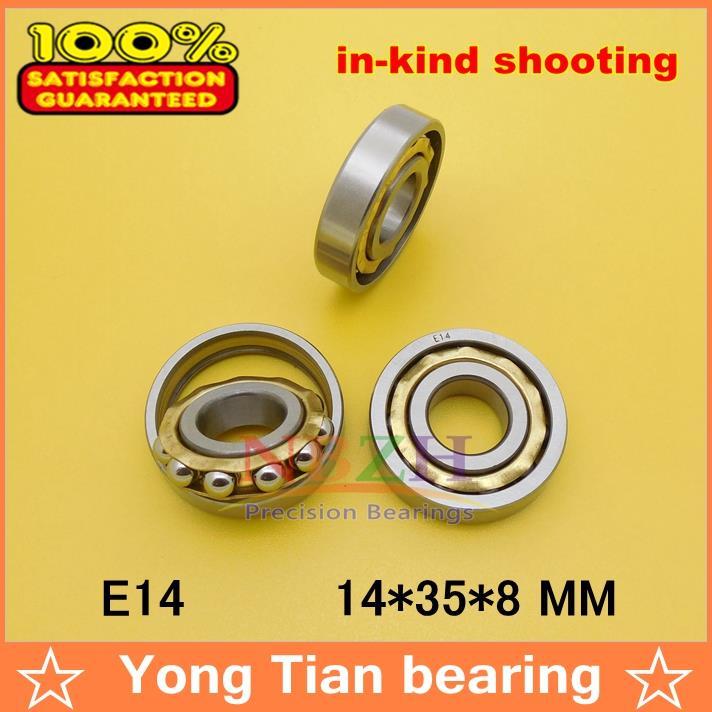Engraving machine Permanent magnet motors separate bearing FB14 E14 N14 ND14 M14 EN14 14 * 35 * 8 14X35X8 mm free shipping e4 fb4 a4 nd4 t4 m4 en4 n4 magneto angular contact ball bearing 4x16x5mm separate permanent magnet motor bearing