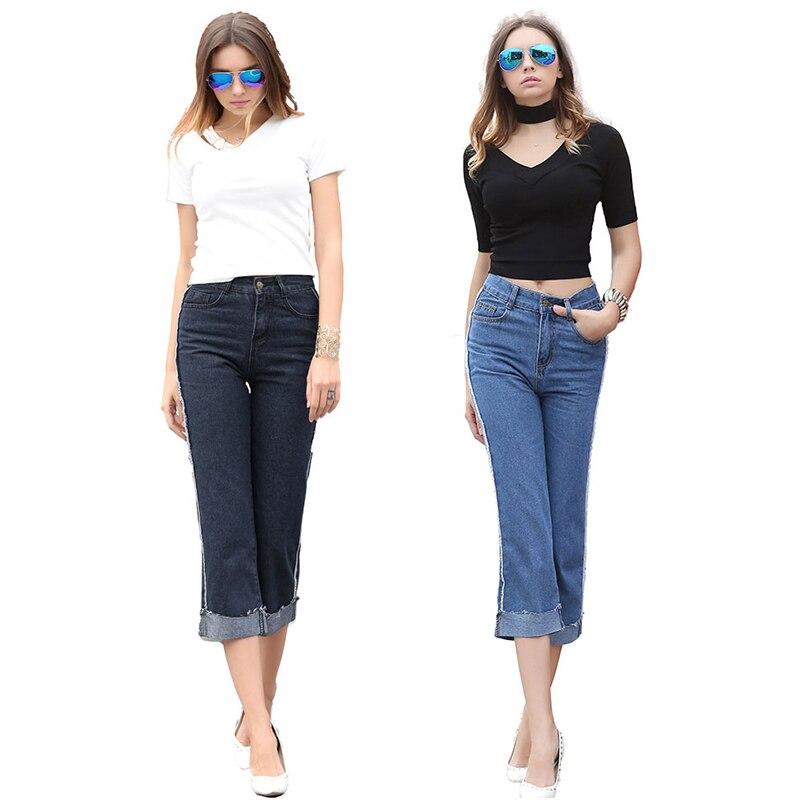 Women Jeans 2017 Fashion Mid Waist Jeans Slim Denim Pencil Girls Jeans Skinny Pants Woman Pants Ladies Vintage Casual Trousers