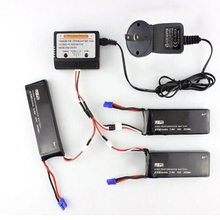 3PCS Hubsan H501S Lipo Battery 7.4V 2700mah 10C Batteies With Adapter US charger For Hubsan H501S X4 H501C RC Quadcopter Drone