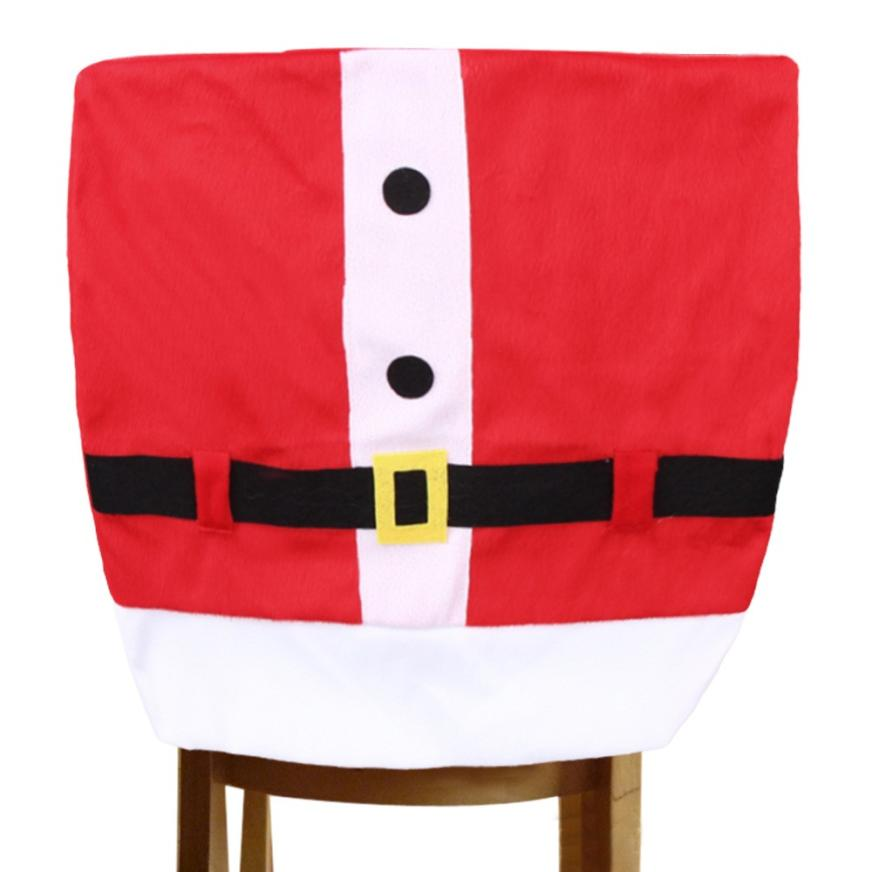 2015 Santa Claus Santa Claus Christmas Holiday Party Home Decor Enfeites De Natal Christmas Chair Cover