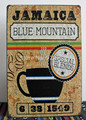JAMAICA BLUE MOUNTAIN COFFEE Vintage Tin Sign Bar pub home Wall Decor Retro Metal Art Poster