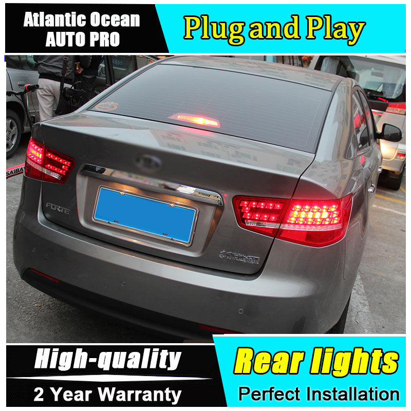 A&T Car Styling for Kia Forte Taillights 2010 2013 Forte LED Tail Lamp Cerato LED Rear Lamp DRL+Brake+Park+Signal led lights