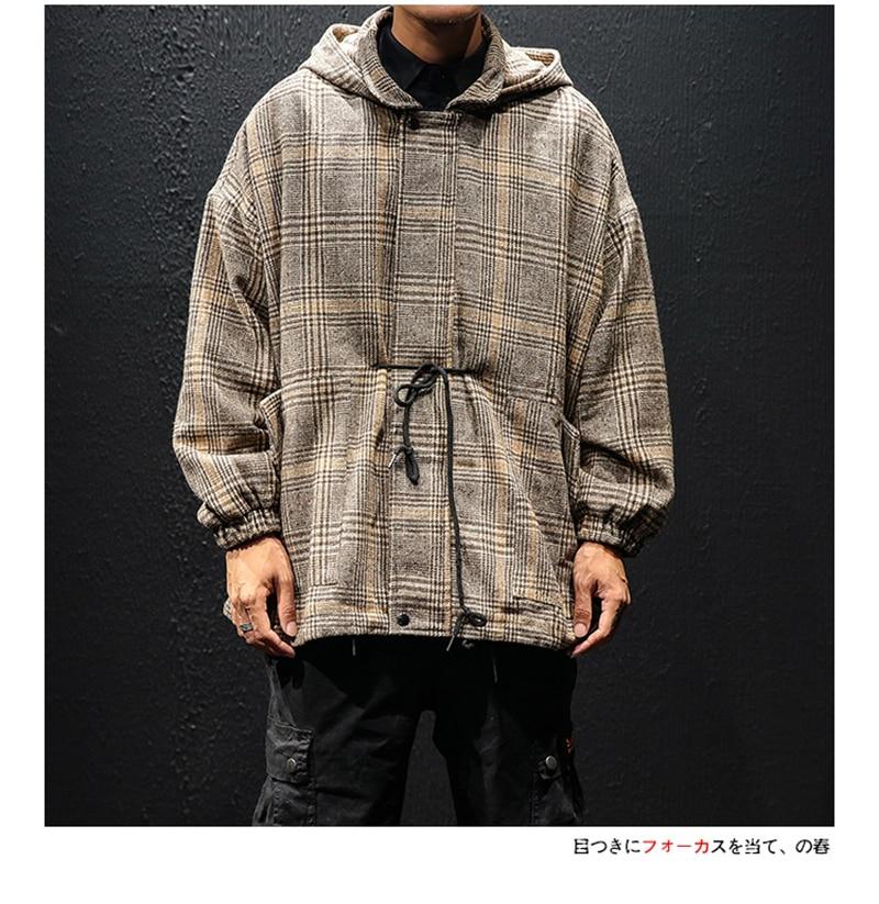 Korean Trench Coat Men Overcoat Hood Slim Fit (15)