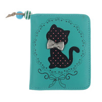 Women Animal Printing Wallet Girls PU Leather Printing Odd Tail Cat Purse Purse 2017 New Brand