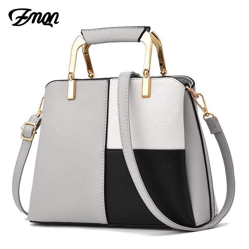 Bolsas de Couro Bolsa de Ombro para a Menina Zmqn Bolsa Feminina Famosa Marca Designer Verão Retalhos Feminino A726 2020