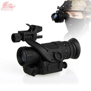 Image 1 - Tactical dispositivo de visão noturna infravermelha iluminação ir embutido caça riflescope monocular para fotografar, PVS 14 day night viewer